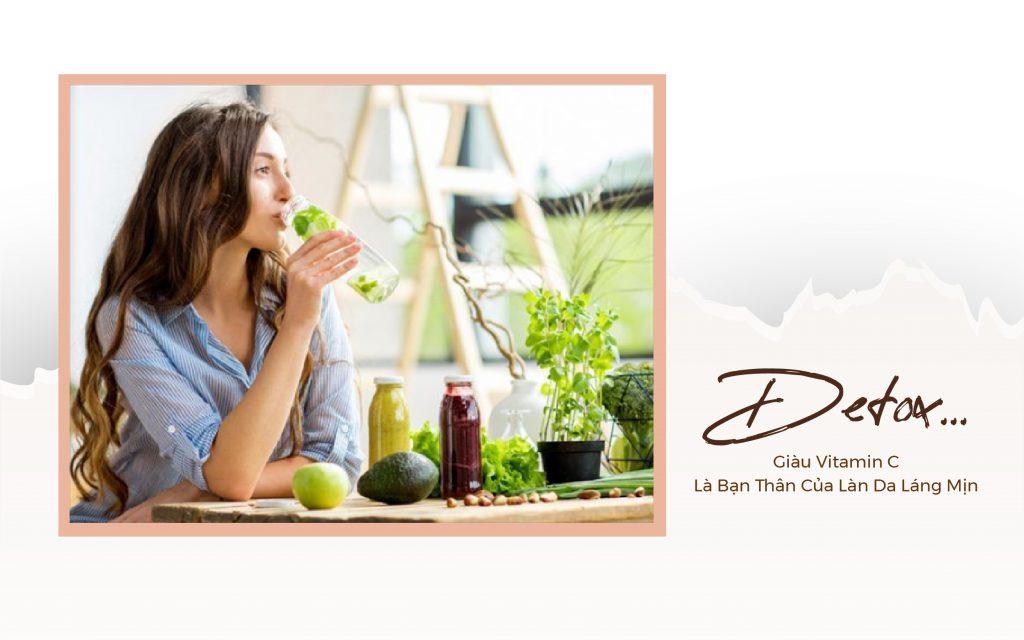 Những loại nước detox giàu vitamin C là bạn thân của làn da láng mịn.